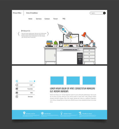 Set of effective website template designs. Modern flat design vector illustration concept of website design for website and mobile website development. Easy to edit and customize.