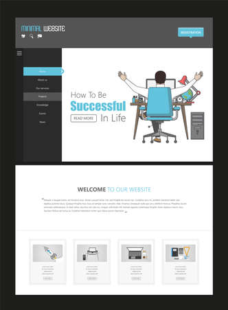 Website template designs. Modern flat design vector illustration concept of website design for website and mobile website development. Easy to edit and customize.