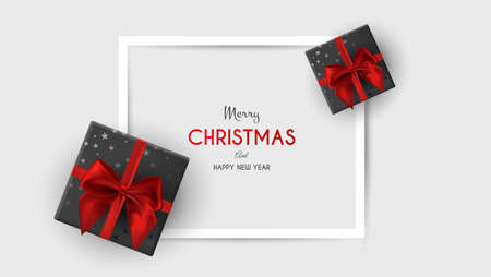 Christmas Frame with lots of Decorative Ornaments. Christmas template for banner, ticket, leaflet, card, invitation, poster and so on. Illustration