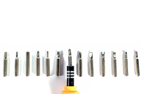 Tools on white background