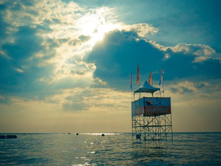 On Dec 10,2017. Jet ski world cup 2017 at Jomtien Beach in Chon Buri, Thailand.