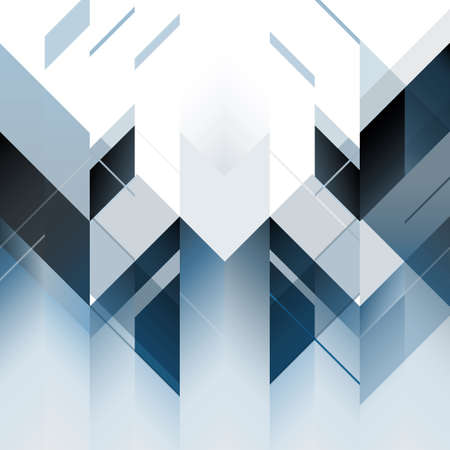 Abstract polygonal blue background. Vector illustration