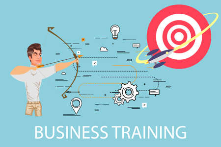 business team: Business training staff concept.