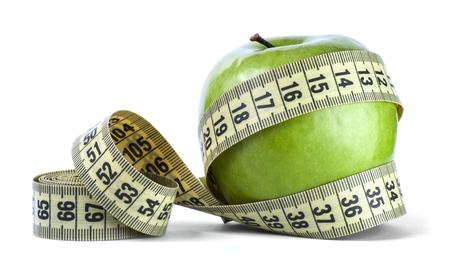 centimeter: green Apple with centimeter