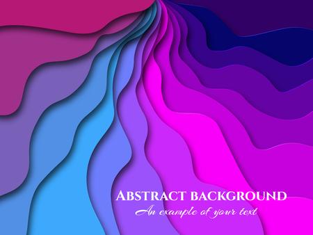Paper cut background. Abstract realistic paper decoration for design textured. 3d. Carving art. Vector illustration. Cover layout design template. Ilustração