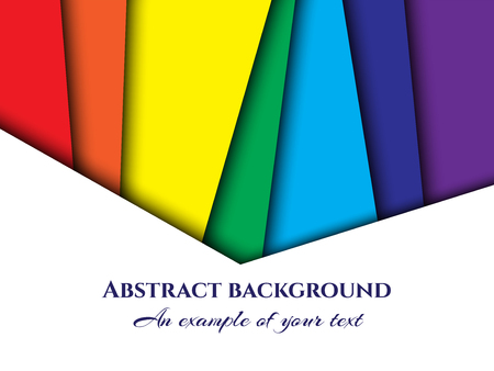 Background paper cut. Abstract paper ornament for design with straight multi-colored layers. Art of carving. Vector illustration
