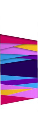 Abstract geometric background in paper cut style. Straight lines. Vertical banner for sites and social networks, flyers, advertising. Place for text. Vector.