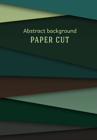 Abstract geometric background in paper cut style. Straight lines. Design for brochures, posters, flyers, advertising. Place for text. Vector.