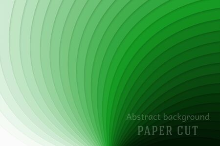 Abstract geometric background in paper cut style. Smooth lines. Design for brochures, posters, flyers, advertising. Vector illustration