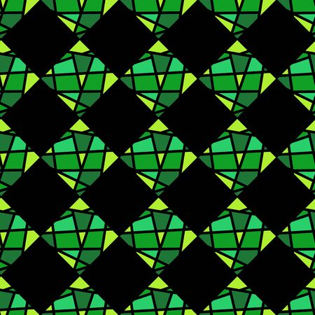 Straight lines seamless pattern. Mosaic background. Multicolor design of tiles, paper. Vector illustration