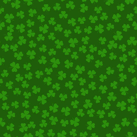 Seamless pattern with clover leaves. Modern background with repeating elements for packaging, printing, fabric. Vector illustration Ilustração
