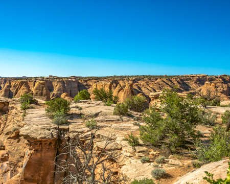 Off road vehicle views of Moab Utah trails on bright sunny days Stock Photo