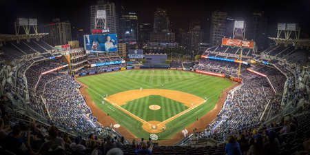 Petco Park during a Padres game in downtown