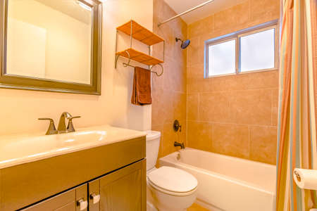 Model homes always show off beautiful bathrooms clean shine. Wonderful California home in San Diego county. Real estate listings with powerful visuals.