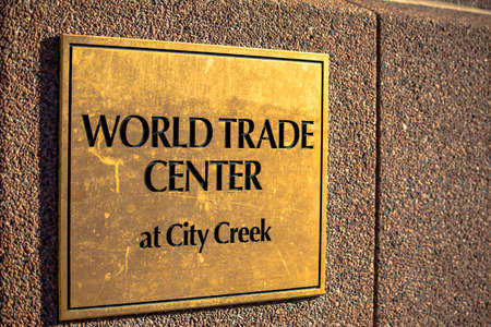 World Trade Center plaque at City Creek