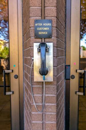 Public telephone for customer service