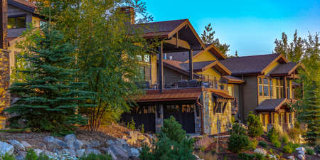 Luxury homes side by side in Park CIty pano