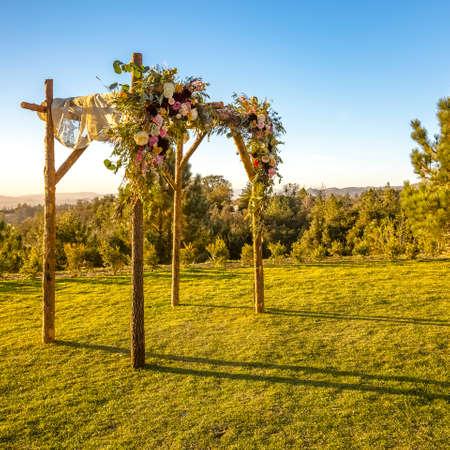 Side view of a Jewish wedding Chuppah
