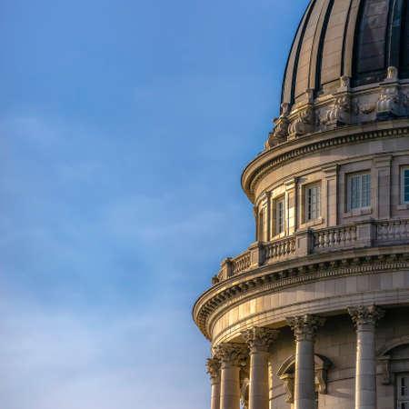 Utah State Capital Building in Salt lake City Utah Stock Photo
