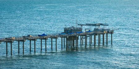 Scripps Pier and Pacific Ocean in San Diego CA Banco de Imagens
