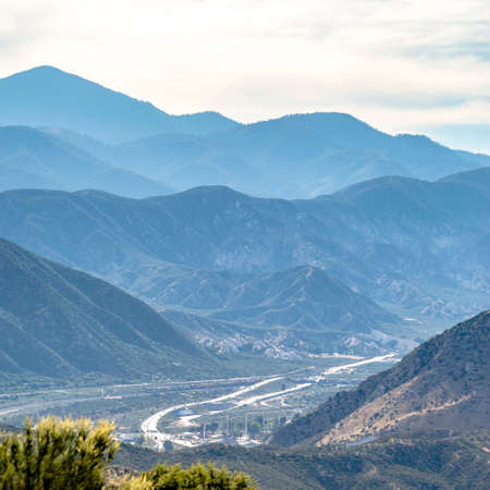 Striking mountains and road in Ontario California