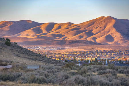 Utah Valley community amid hills and mountains