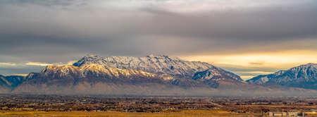 The Utah Valley community against Mount Timpanogos