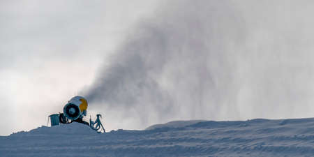 Snow cannon in Park City, Utah ski resort