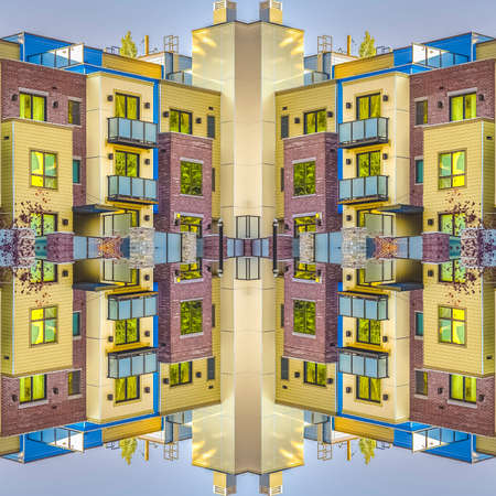 Square Axis of symmetry with Park City apartments
