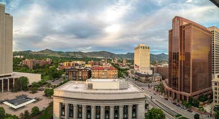 Scenic panorama of downtown Salt Lake City