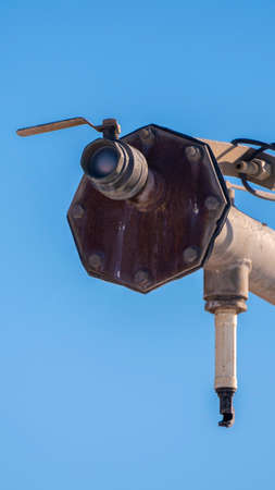 Vertical Detail of an agricultural irrigation system day light 版權商用圖片
