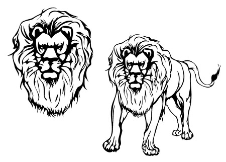 zodiac anger: Lion and lion head