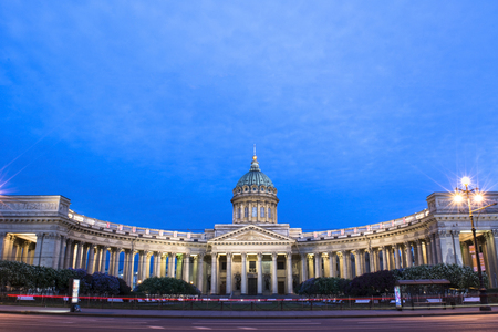 Kazan Cathedral in St. Petersburg  Russia.