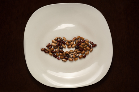 plate with beans in the shape of lips