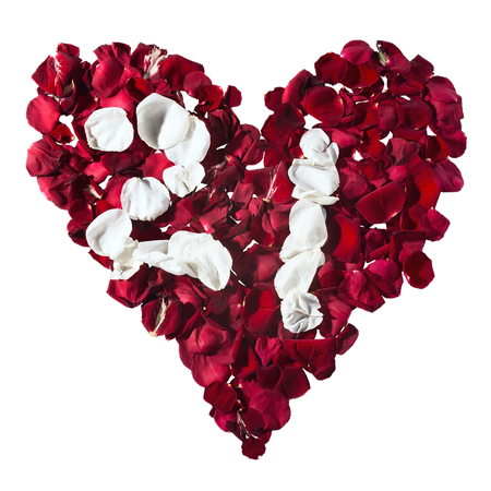 petals in a heart shape. The numbers for the calendar. Stock Photo