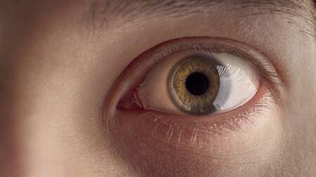 Eye of a man macro shot.