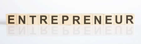 ENTREPRENEUR business concept with wooden blocks