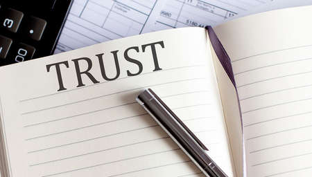 Notebook with Toolls and Notes about TRUST.Business