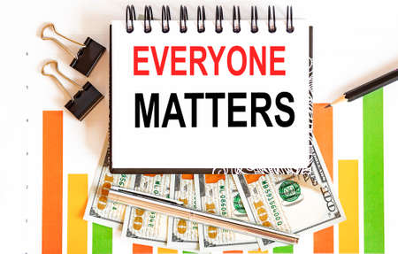 Notebook with Tools and Notes about Everyone Matters, business