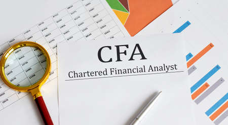 Paper with CFA - Chartered Financial Analyst a table on charts