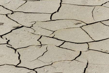 extreme terrain: Dry cracked land. Extreme terrain. Nature background Stock Photo