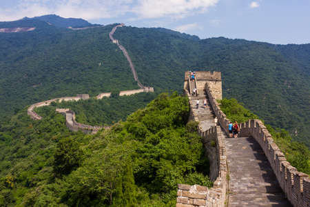 Great Wall of China, Mutianyu section, located nearby Beijing city Stock Photo