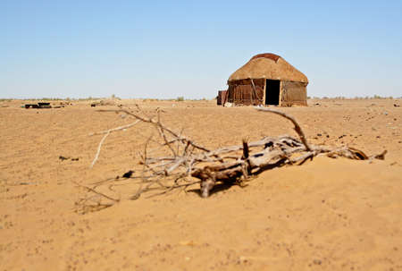 Shepherds yurt (tent) in Kyzylkum desert, Uzbekistan