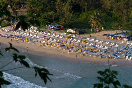 Nai Harn bay beach on south Phuket. Public beach on sunset Stock Photo
