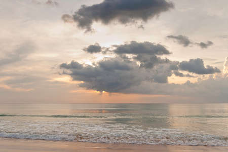 Tropical sunset and cloudy sky. Phuket, Thailand Stock Photo