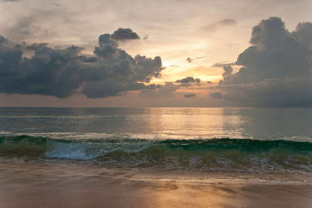 Beautiful cloudy sunset on Andaman sea coast