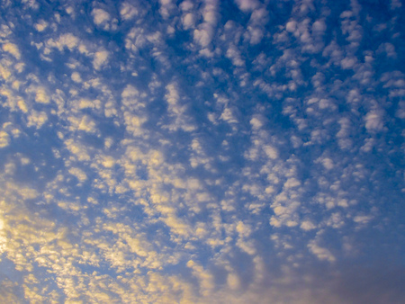 Bright Sunset clouds photo
