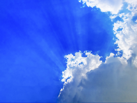 monsoon clouds: Rays of hope.Sunrays coming out of the monsoon clouds.