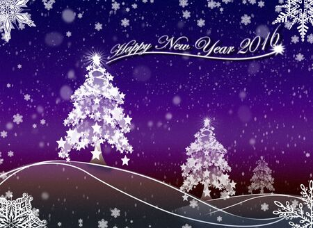 winter scenery: Happy New Year 2016_1 Background Illustration