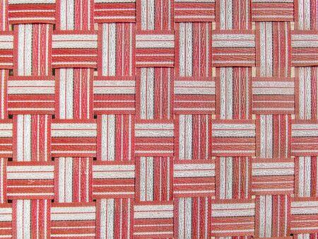 crisscross: Red,white and black plastic woven crisscross.